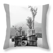 New From Old Throw Pillow