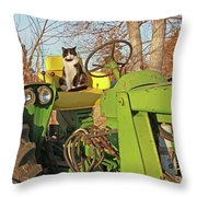 New Hired Hand Throw Pillow
