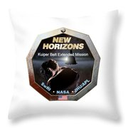 New Horizons Extended Mission Logo Throw Pillow