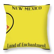 New Mexico State License Plateai Throw Pillow