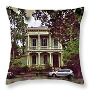 New Orleans Home In Watercolor Throw Pillow