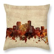 New Orleans Skyline Sepia Throw Pillow
