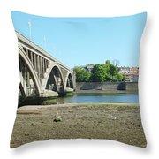 new road bridge across river Tweed at Berwick-upon-tweed Throw Pillow