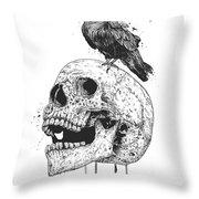 New Skull Throw Pillow