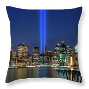 New York City 9/11 Commemoration  Throw Pillow