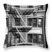 New York City Fire Escapes Throw Pillow