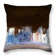 New York Skyline Illustration 1 Throw Pillow