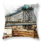 New York Panorama - 29 Throw Pillow