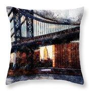 New York Panorama - 30 Throw Pillow
