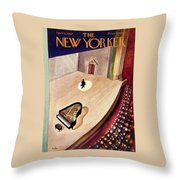 New Yorker April 11th 1942 Throw Pillow
