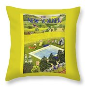 New Yorker August 10th 1946 Throw Pillow