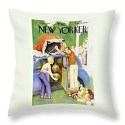 New Yorker August 24th 1946 Throw Pillow