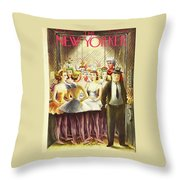 New Yorker December 11th 1943 Throw Pillow