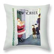 New Yorker December 14th 1946 Throw Pillow