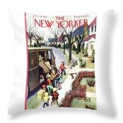 New Yorker December 19, 1953 Throw Pillow