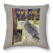 New Yorker December 28th 1946 Throw Pillow