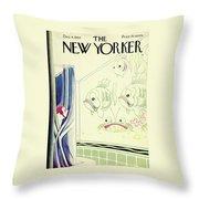 New Yorker December 4th 1943 Throw Pillow