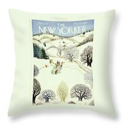 New Yorker February 1st 1947 Throw Pillow
