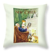 New Yorker February 23rd 1946 Throw Pillow