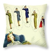 New Yorker February 27th 1943 Throw Pillow