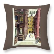 New Yorker February 2nd 1946 Throw Pillow