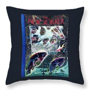 New Yorker January 19th 1946 Throw Pillow