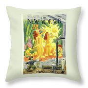 New Yorker January 25th 1947 Throw Pillow