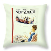 New Yorker January 4th 1947 Throw Pillow