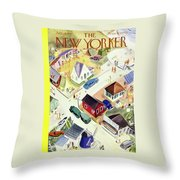 New Yorker July 19th 1947 Throw Pillow