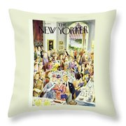 New Yorker June 28th 1947 Throw Pillow