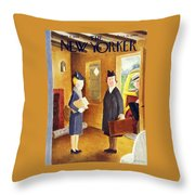 New Yorker June 8th 1946 Throw Pillow
