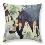 New Yorker March 20th 1943 Throw Pillow