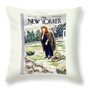 New Yorker March 23rd 1946 Throw Pillow