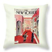 New Yorker March 30th 1946 Throw Pillow