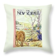 New Yorker May 17th 1947 Throw Pillow