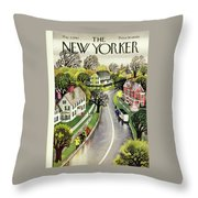 New Yorker May 3rd 1947 Throw Pillow