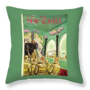 New Yorker November 13th 1943 Throw Pillow