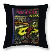 New Yorker November 20th 1943 Throw Pillow