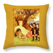 New Yorker October 9th 1943 Throw Pillow