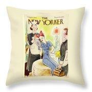 New Yorker September 4th 1943 Throw Pillow