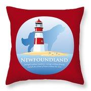 Newfoundland Pride Throw Pillow