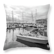 Newport Rhode Island Harbor Throw Pillow