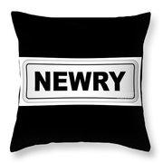 Newry City Nameplate Throw Pillow