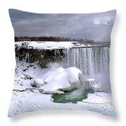 Niagara Falls Late Winter Throw Pillow