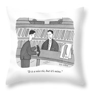 Nice Tie Throw Pillow