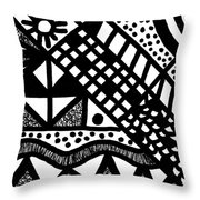 Night And Day 7 Throw Pillow