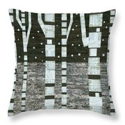 Night Birches Throw Pillow
