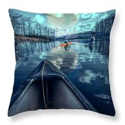 Night Blues Reflections  Throw Pillow
