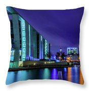 Night In Berlin Throw Pillow by Dmytro Korol