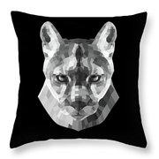 Night Mountain Lion Throw Pillow